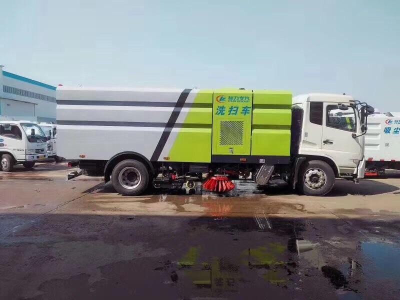 洗扫车加装雪铲试车效果,一车多用,视频