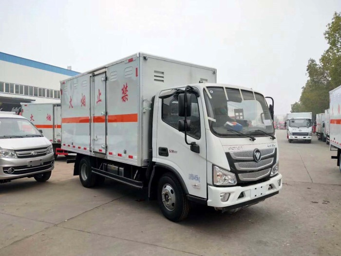 二類福田歐馬可4.2米易燃氣體廂式運輸車廠家直銷圖片