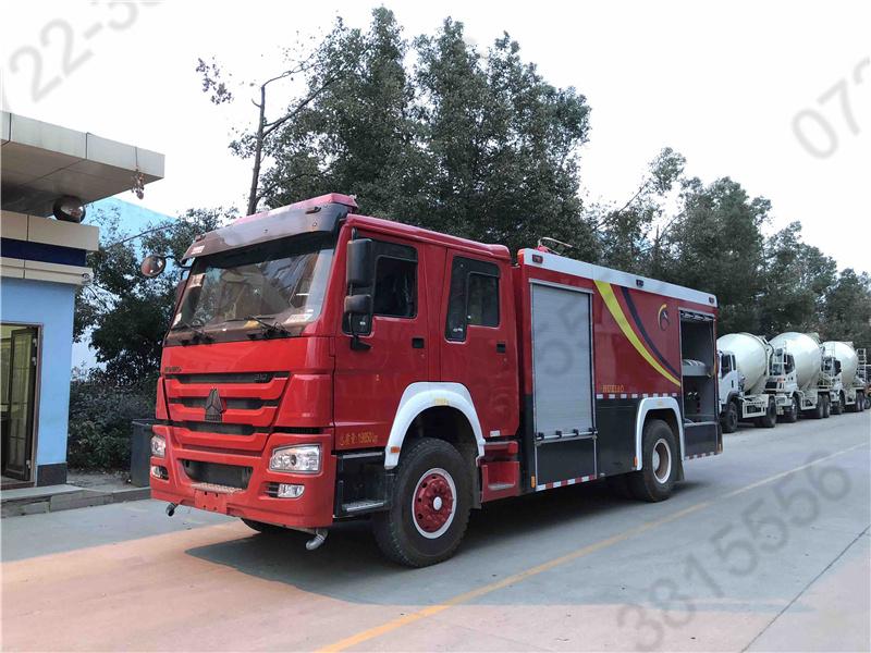 8噸國六重汽豪沃水罐消防車 8方水罐消防車