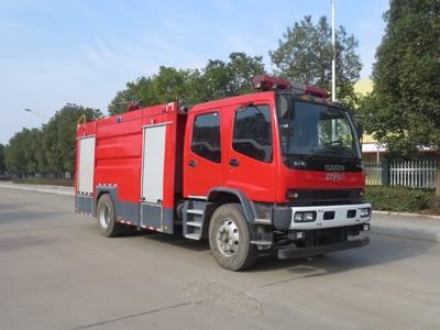 6噸國六慶鈴五十鈴泡沫消防車