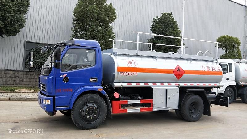 東風多利卡7.6方油罐車 額定載6噸加油車不超重  視頻