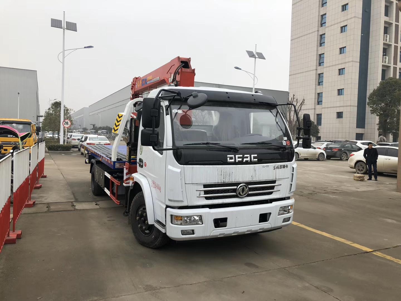 東風D7多利卡隨車吊平板清障車救援拖車圖片