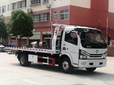 國六東風牌黃牌一拖二高速公路救援車多少錢圖片