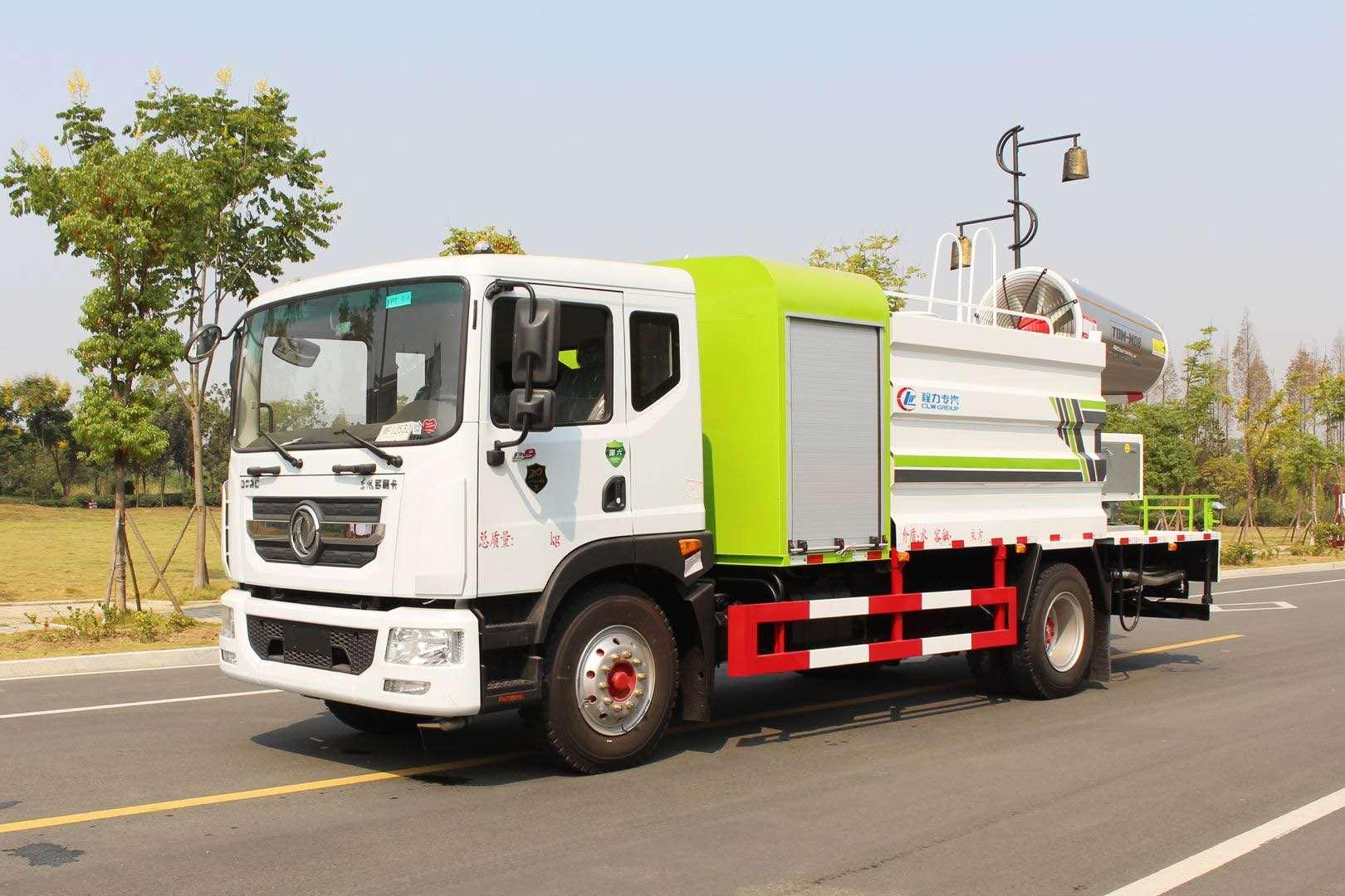 80米雾炮车东风大多利卡11吨抑尘车厂家操作视频视频