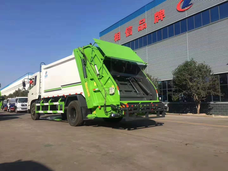国五东风天锦14方压缩式垃圾车图片