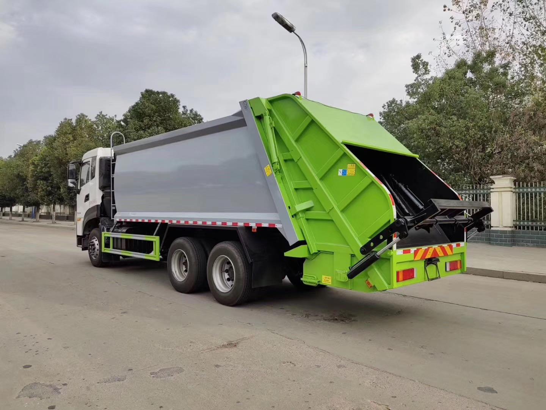 20方国六东风天龙后装压缩垃圾车配置图片图片