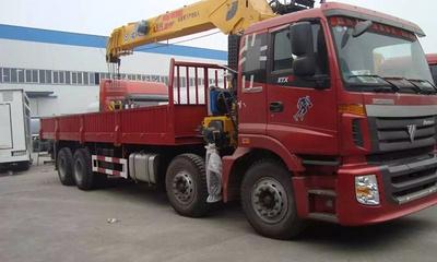 东风D7前四后八16吨随车吊 石煤随车吊图片