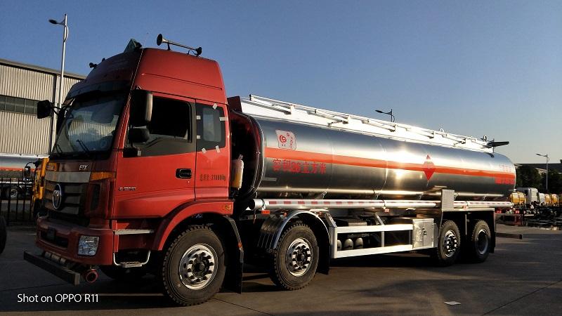 歐曼前四后六26方鋁合金油罐車 拉20噸柴油不超重 視頻