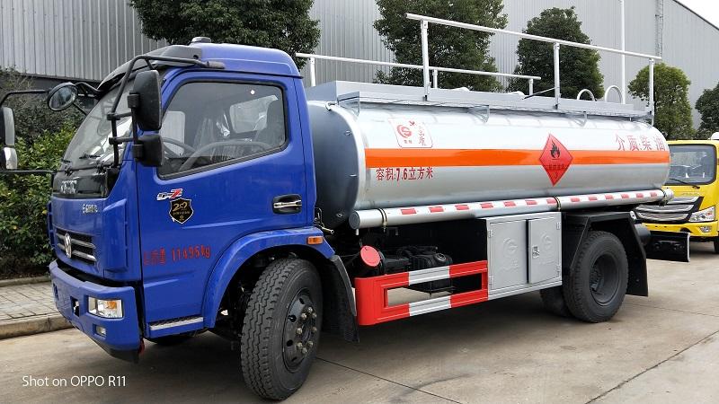 楚勝7.6方油罐車柴油介質拉6噸不超重加油車沖量 視頻