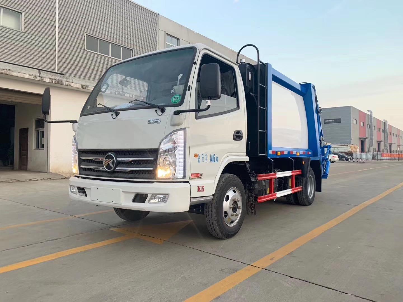 4方國五藍牌凱馬壓縮垃圾車配置圖片圖片