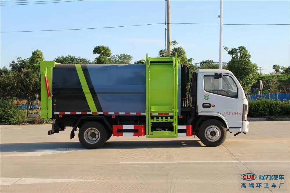 國六側裝掛桶壓縮垃圾車新款上市啦圖片專汽詳情頁圖片