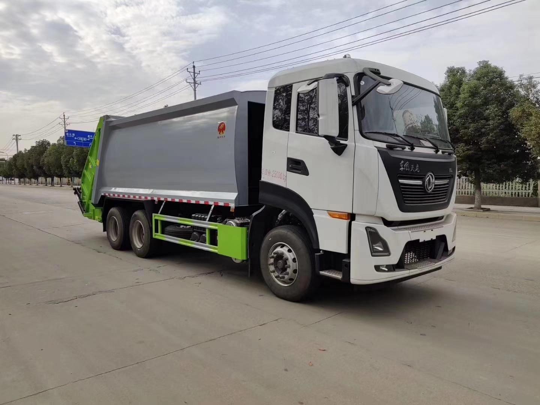 國六東風天龍20方后裝壓縮式垃圾車圖片