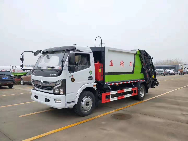 國六東風多利卡D7后裝8方壓縮垃圾車圖片