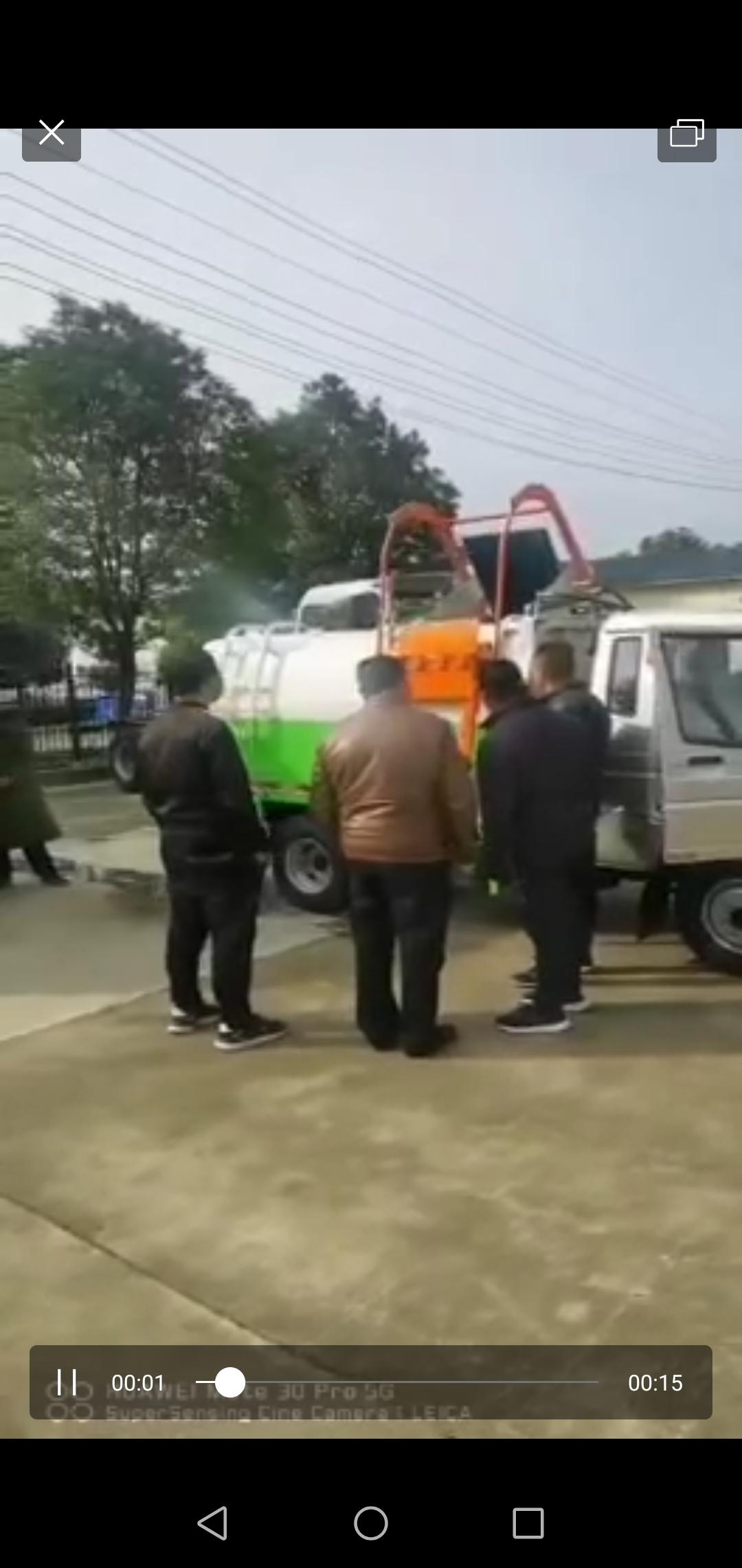 时风4方挂桶垃圾车视频