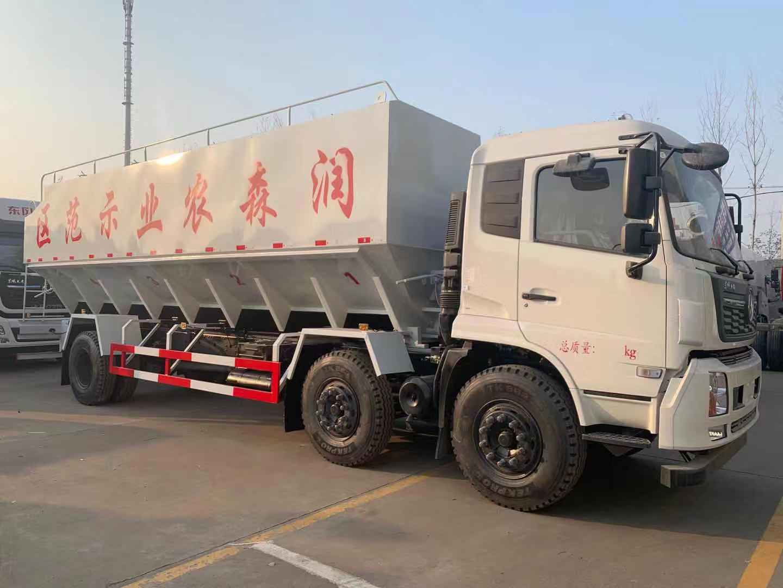 東風天錦小三軸30方散裝飼料運輸車廠家直銷圖片