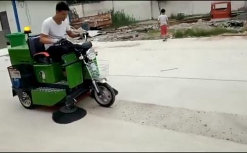 三轮小型扫路车视频