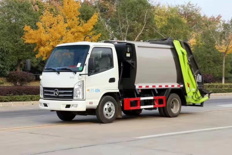 凱馬國六藍牌4噸壓縮垃圾車圖片