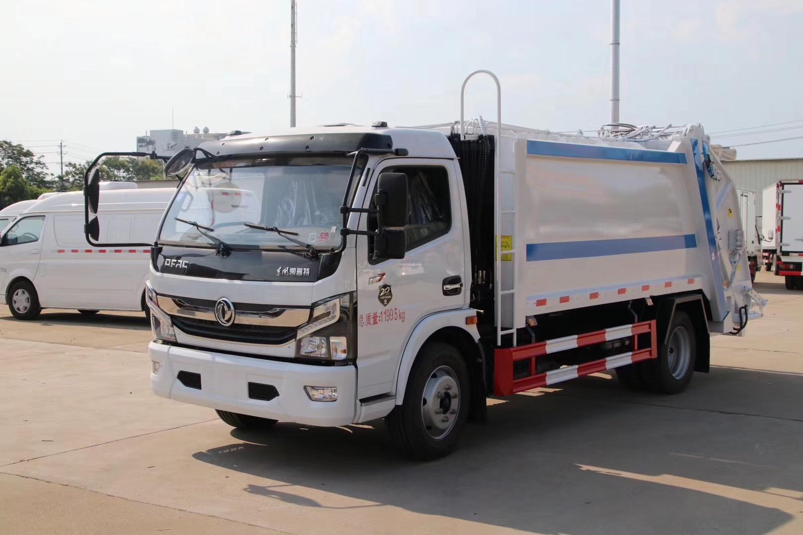 國六東風D7多利卡8方壓縮垃圾車圖片