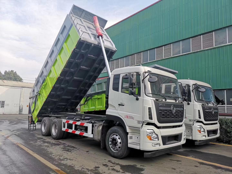 東風天龍自卸垃圾車,對接垃圾車圖片