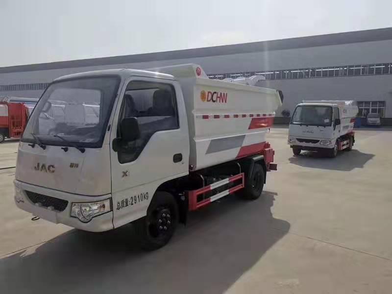 國六江淮X1無泄漏后高位掛桶式垃圾車震撼上市