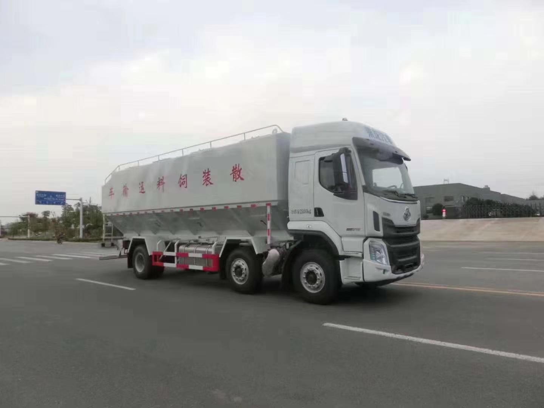 柳汽乘龙小三轴30立方散装饲料运输车