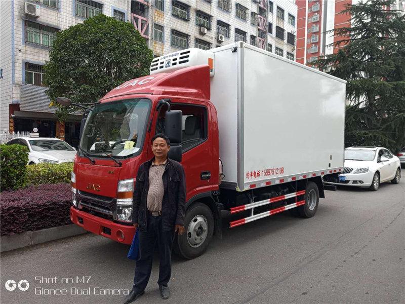 江淮蓝牌冷藏车  厂家保鲜食品的运输车  的好帮手