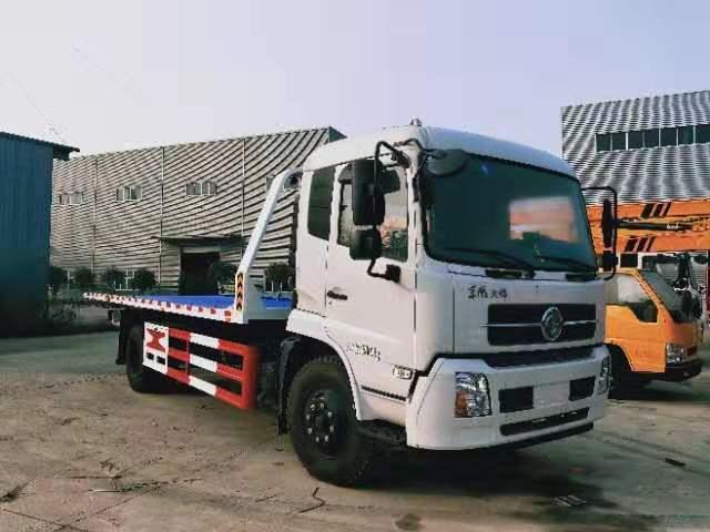 6吨-8吨东风天锦7.2米大平板道路清障救援拖车