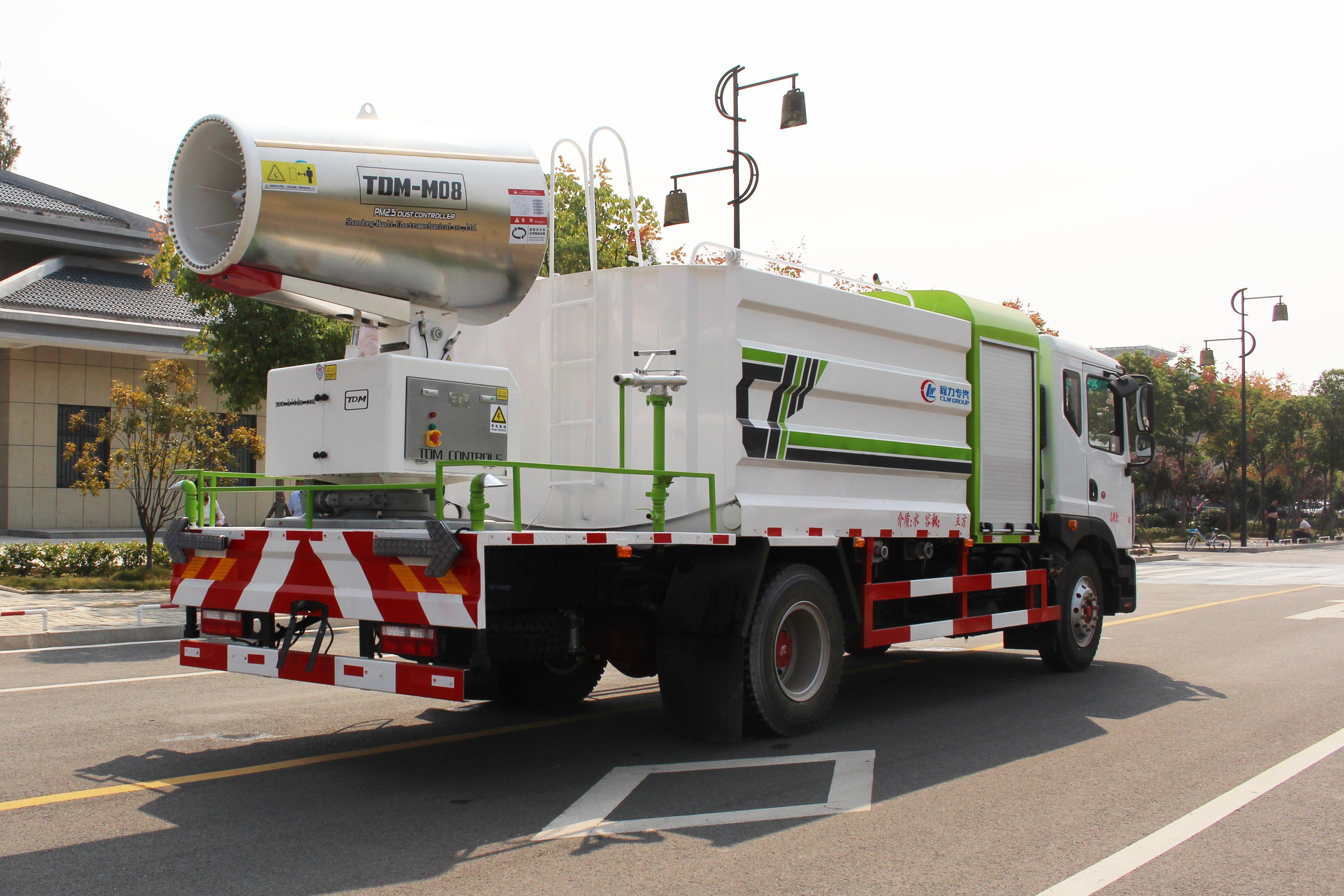 国六10吨东风大多利卡D9洒水车加装80米射程雾炮机组