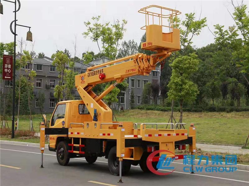 临汾蓝牌115马力21米登高作业车,高空维修车租赁
