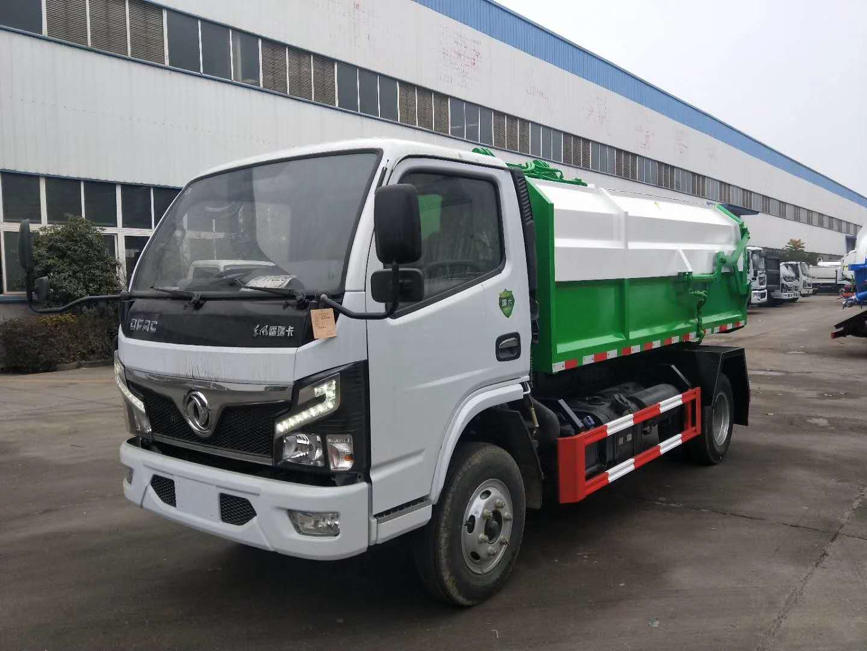 国六东风6方挂桶式垃圾车图片