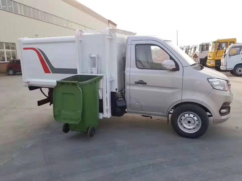 長安3方側裝掛桶垃圾車自裝卸垃圾車!圖片專汽詳情頁圖片