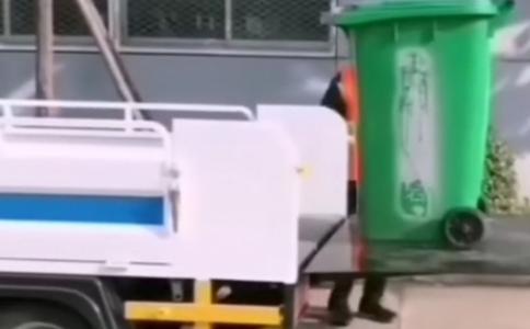 电动垃圾车垃圾清运车视频