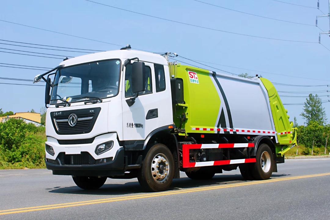 东风天锦国六新款12方15方压缩垃圾车图片