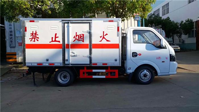 国五蓝牌3米东风途逸腐蚀性物品厢式运输车