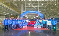 奇瑞新能源重磅战略车型S61芜湖下线
