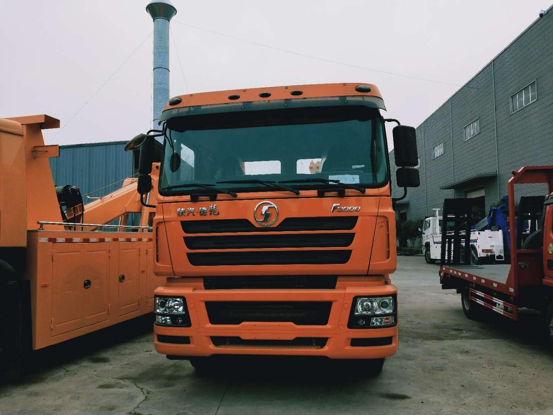 25吨~30吨陕汽德龙大型清障救援拖车375马力