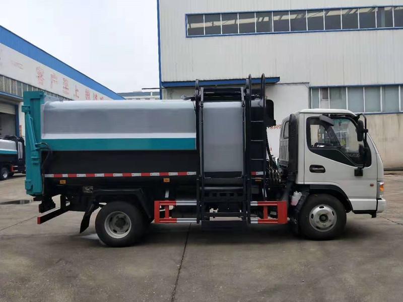 藍牌藍牌垃圾車-江淮7.5立方側裝垃圾車多少錢