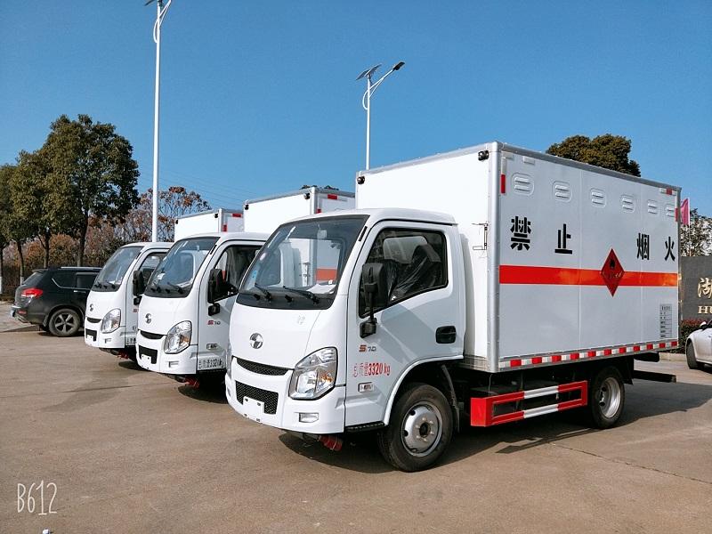 國六危險品運輸車報價 躍進3.3米廂式危險品運輸車視頻