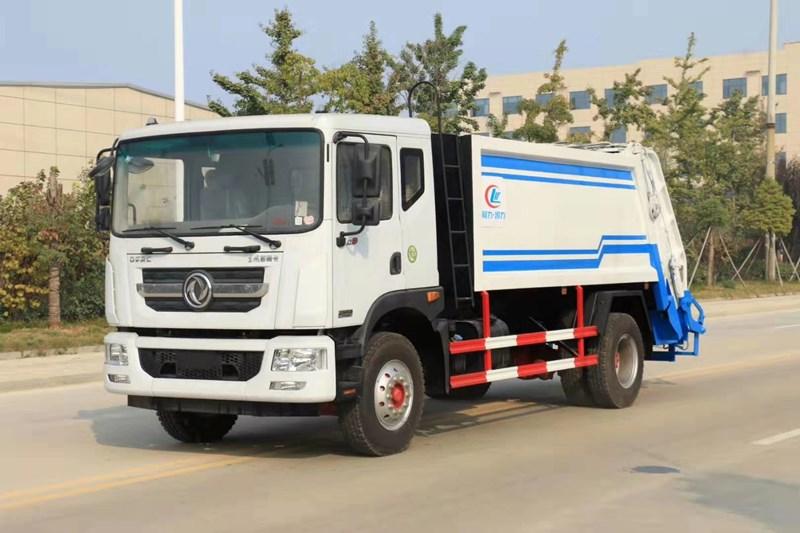 10立方壓縮垃圾車-東風品牌保潔公司清運垃圾車圖片