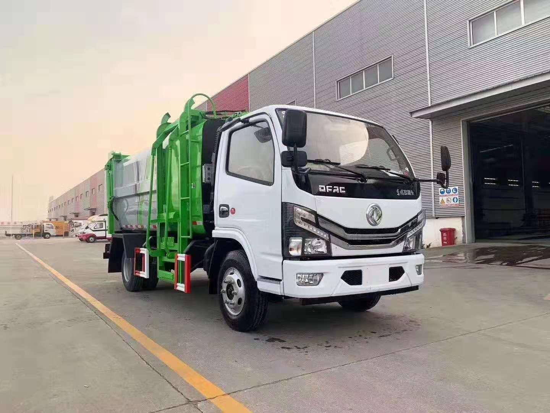 簡單實用的壓縮垃圾車東風多利卡藍牌側裝壓縮垃圾車圖片專汽詳情頁圖片