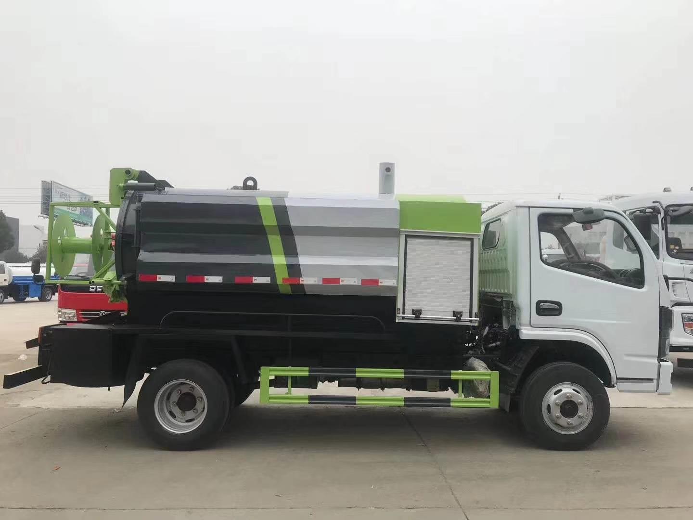 国六蓝牌东风福瑞卡清洗吸污车图片