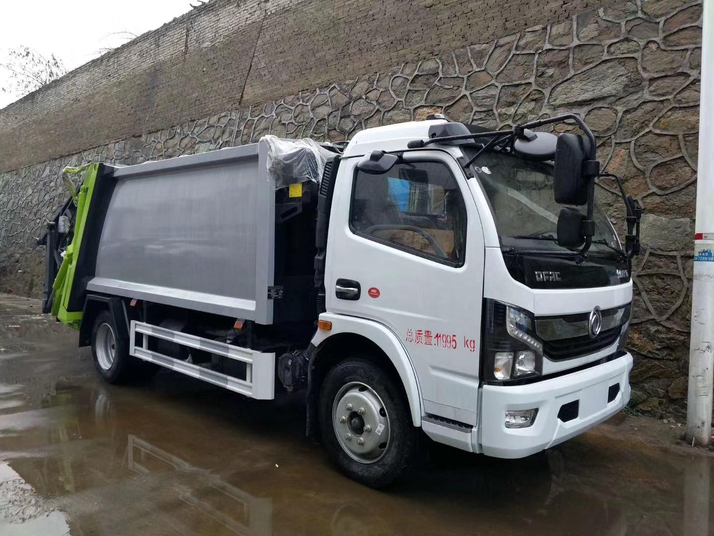 东风多利卡国六8方压缩垃圾车图片