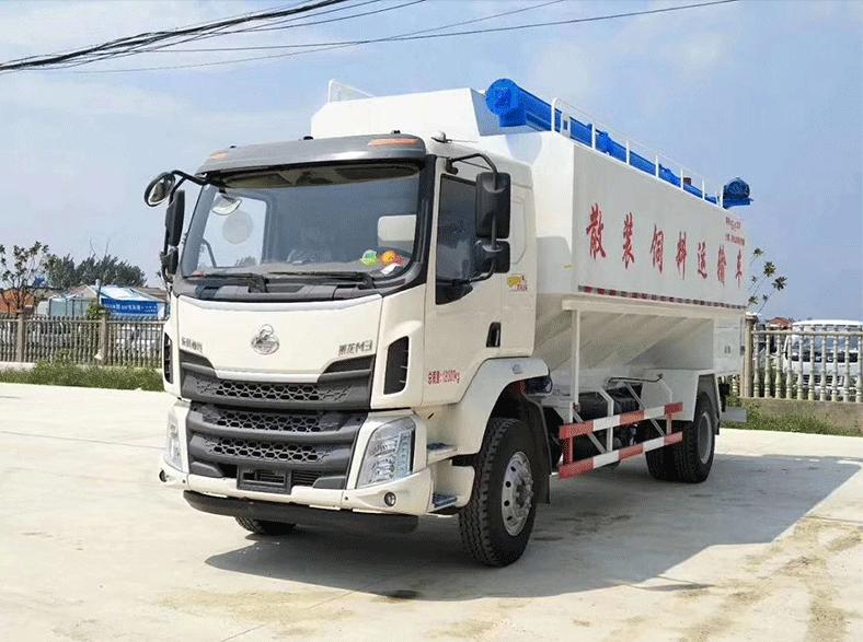 柳汽乘龙28方(14吨)散装饲料车