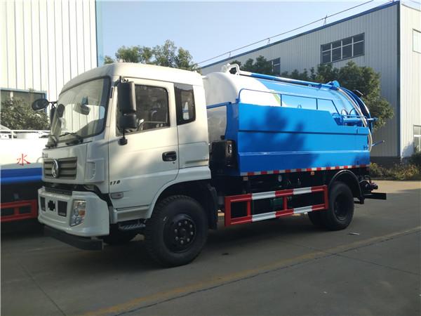 东风10-12立方清洗吸污车