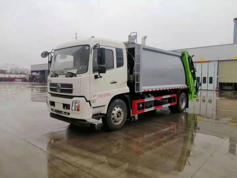 国五东风天锦14方后装压缩垃圾车怎么样?厂家实时在线解答图片