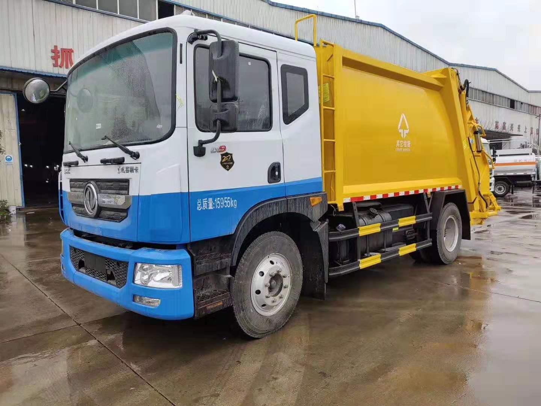 國五東風多利卡D9后裝12方壓縮垃圾車圖片參數配置