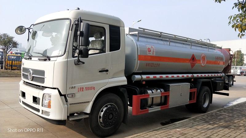 國五東風天錦12.5方加油車12噸油罐車康明斯190馬力視頻