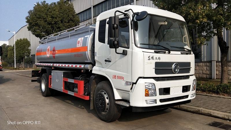 特價出售國五東風天錦單橋12噸油罐車總質量18噸  視頻