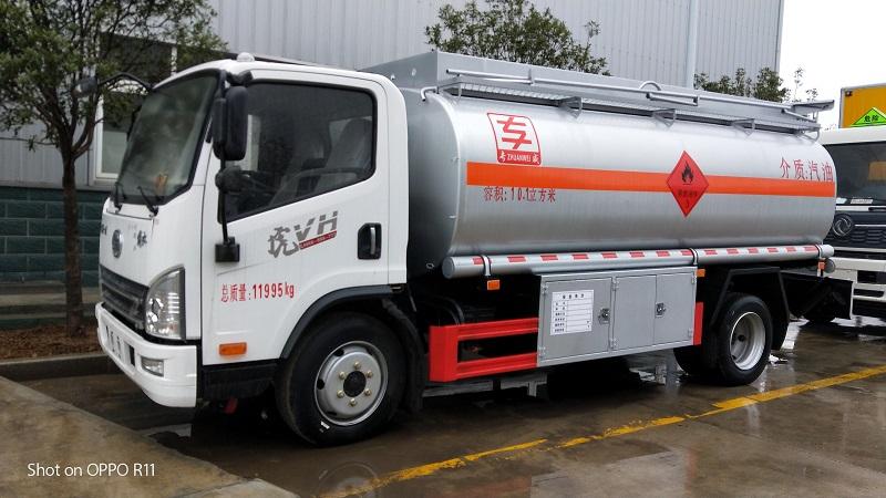 解放8噸流動加油車 虎V10方油罐車包上牌價格圖片專汽詳情頁圖片
