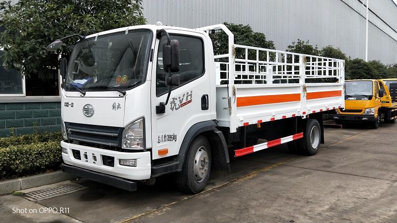 国六解放虎VH5.15米栏板气瓶运输车图片厂家报价 视频